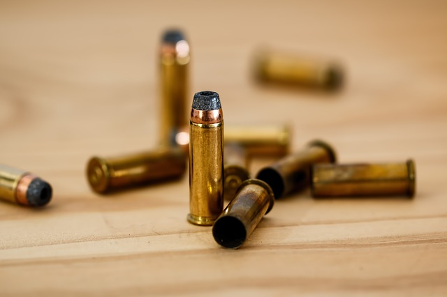 bullets on a table