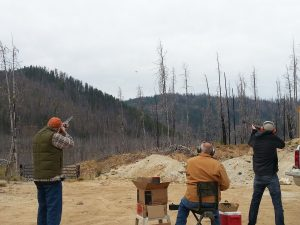 Group of people having a shooting