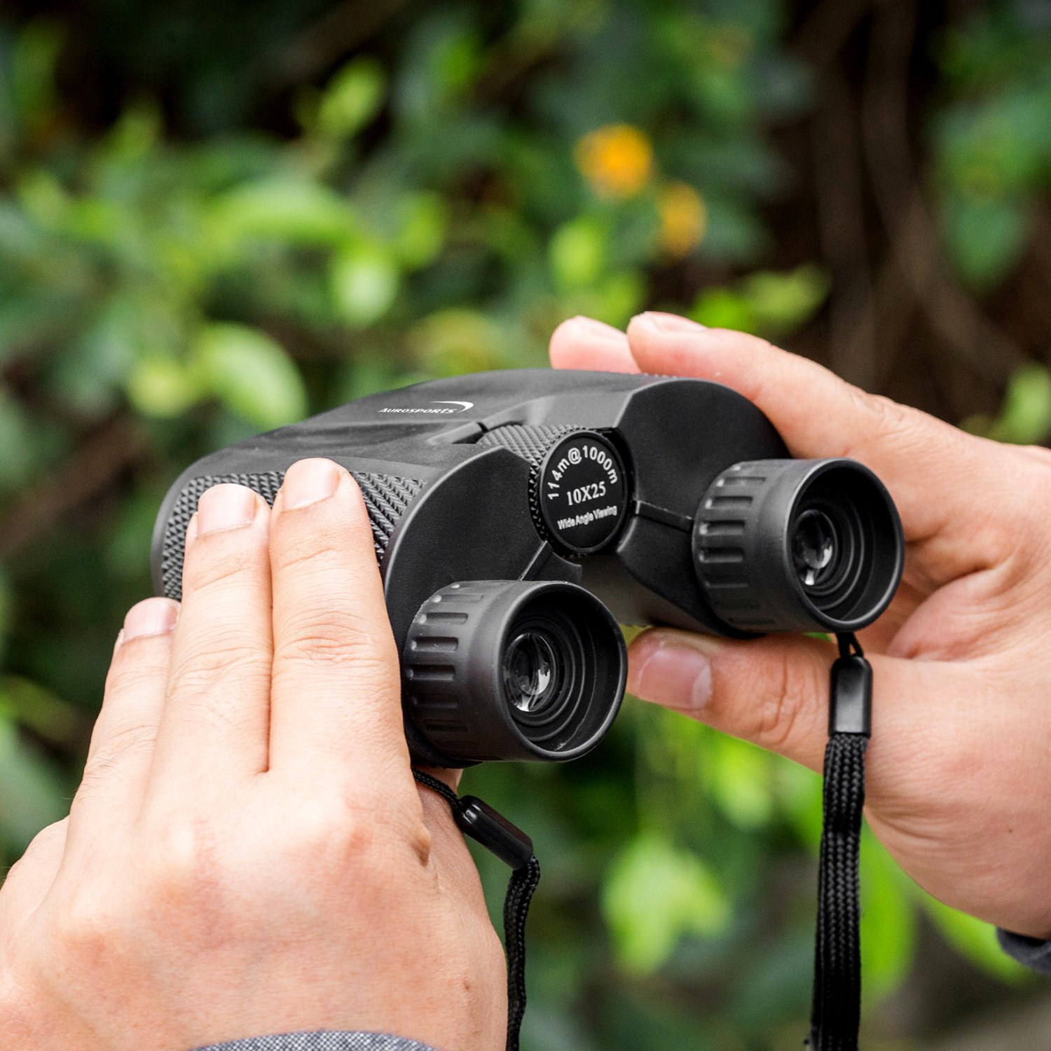 Aurosports 10x25 Folding High Powered Binoculars